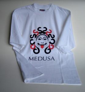 T-shirt med Medusatryck