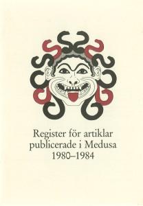 Register för artiklar publicerade i Medusa 1980-1984